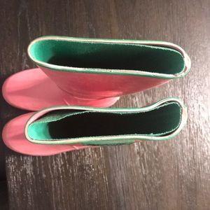 Ralph Lauren Shoes - Ralph Lauren pink rubber rain boots sz 1 girls